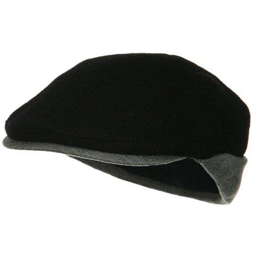 (UBI/NYH Warmer Flap Wool Ivy Cap - Black Grey)