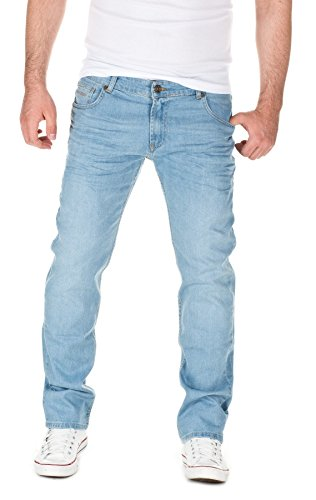 WOTEGA Herren Jeans Travis Slim-Fit, blue denim (411), W33/L32
