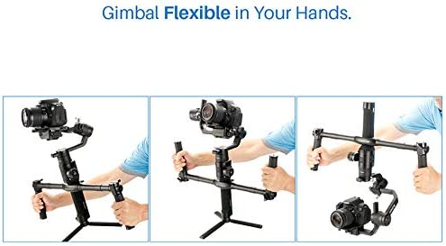 MeterMall New for AgimbalGear Dual Handheld Gimbal Accessories for DJI for Ronin S Extended Handle Grips Handbar Mount
