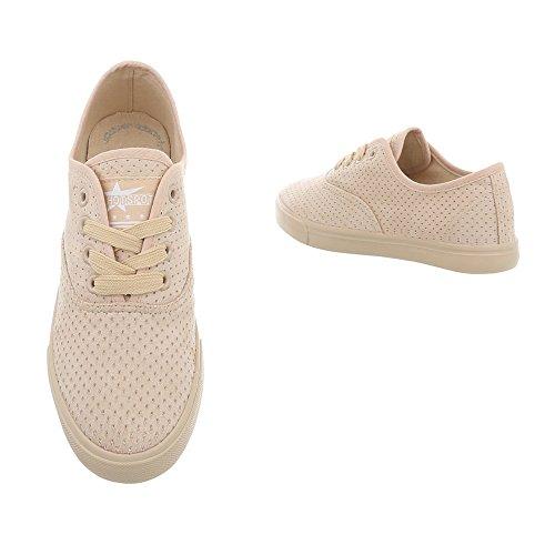 Mujer Design Para Zapatos Beige Zapatillas 93 Plano Bajas Ital Zapatillas G WtBdwnd