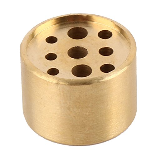 - uxcell Metal Household Living Room Round Incense Stand Holder Container Gold Tone