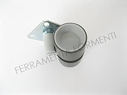 Rueda para mueble de diseño, Muebles Art. Formula 40 con placa. Carga máxima