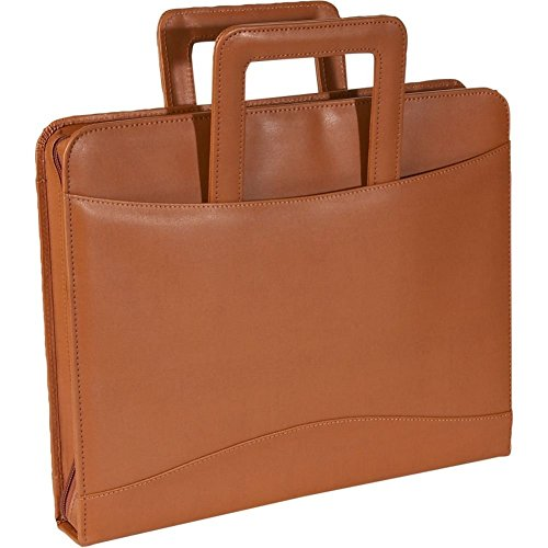Royce Leather Zip Around Binder Padfolio,Brown,One Size (Padfolio Cd)