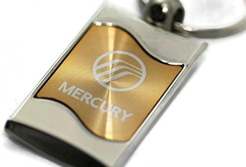 DanteGTS Mercury Logo Rectangular Wave Key Chain Gold