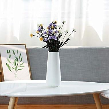 D'vine Dev Tall Matte White Ceramic Vases - Home Decor Vase Table Centerpieces Vase - Gift Box Packaged