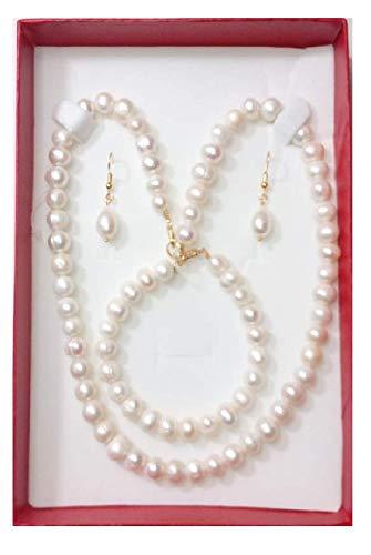 ad4c7b574bb8 Collar Pulsera Aretes De Perla Cultivada: Amazon.com.mx: Handmade