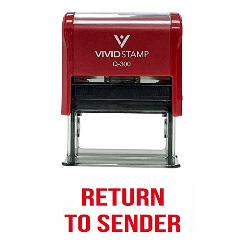RETURN TO SENDER Classic Self Inking Rubber Stamp (Red Ink) - Rubber Sender