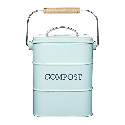 (Kitchen Craft Living Nostalgia Vintage Blue Compost Bin LNCOMPBLU)
