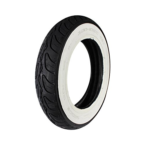 Prima Tire (Whitewall, 3.0 x 10); Genuine Bud 50, Buddy Kick (Best Tubeless Tire For Mio)
