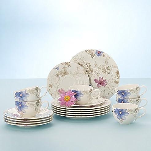 Villeroy & Boch Mariefleur Gris Basic Kaffee Set / Elegantes ...