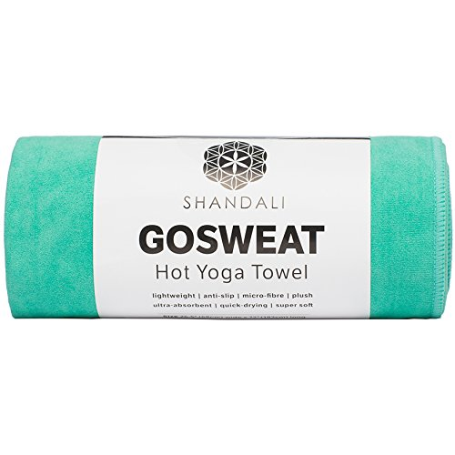Shandali Hot Yoga Towel - Suede - 100% Microfiber, Super Absorbent, Bikram Yoga Towel - Exercise, Fitness, Pilates, and Yoga Gear. Teal 26.5