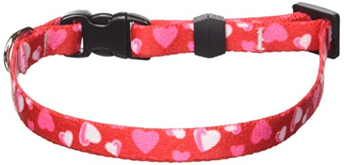 Red Hearts Dog Collar - Size Extra Small 8