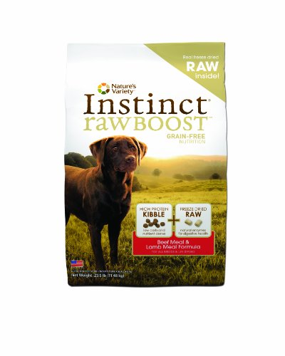 Instinct Grain-Free Raw Boost Dry Dog Food, Kibble Beef Meal and Lamb Meal Formula, 23.5 Pound