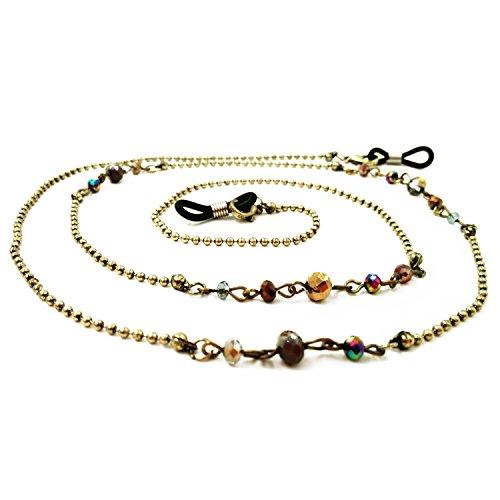 Kalevel Eyeglass Chain Eyeglass Strap Holder Eyeglasses Strap Holder Chain Cool (Bronze)