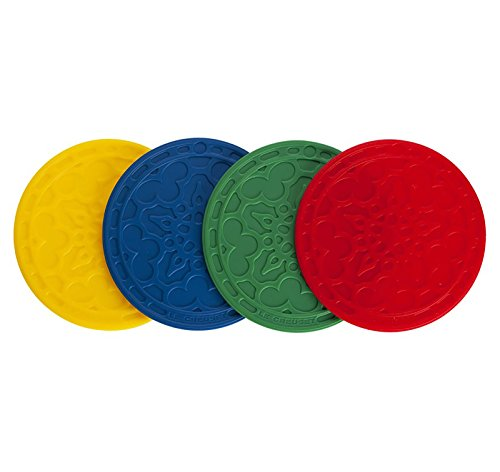 Le Creuset FB512-MC Silicone French Coasters (Set of 4), Multicolor ()