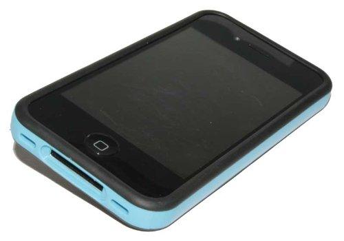 Silikon Case Bumper Handy Tasche für Apple iPhone 4S / Schutzhülle blau