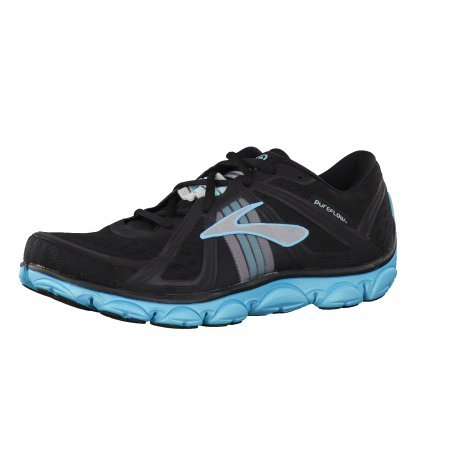 Brooks Womens PureFlow Running Shoes Color: AngelBlu/Slvr/Blk Size: 10.0