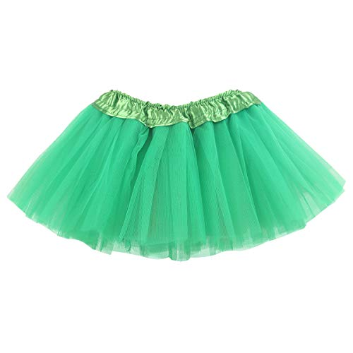 belababy Green Skirt 0-24 Months, Baby Girl 5 Layers Tulle Tutu for Dress Up ()