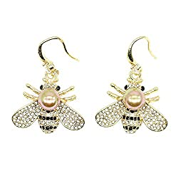 Honey Bee Brooches With Crystal