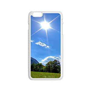Personalized Creative Cell Phone Case For iPhone 6,susnhine blue sky and green mountains