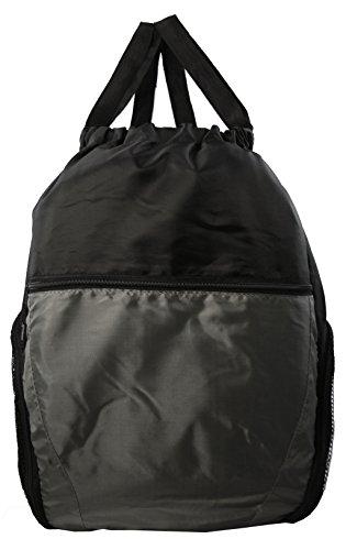 Multi-Pocket Drawstring Backpack