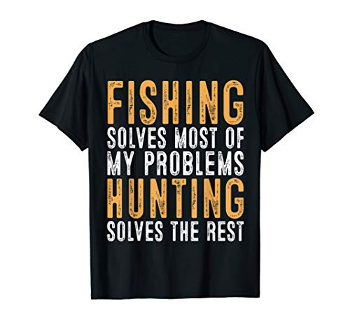 Mens Hunting Solves the Rest T-Shirt Hunter Papa Tee Hunt Gifts (Best Turkey Shotgun 2019)