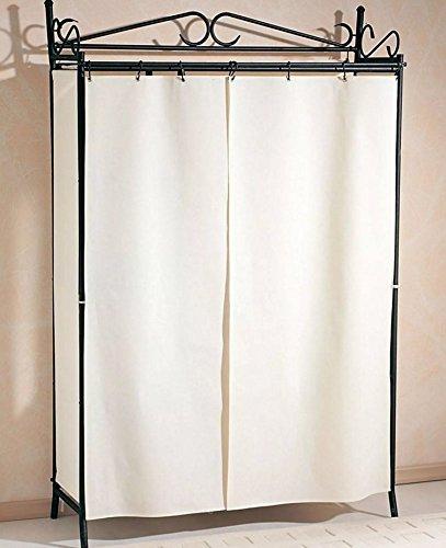 Armario Armario Armario perchero con cortina negro ...