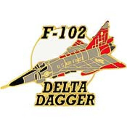 """F-102 Delta Dagger Airplane Pin 1 1/2"""" for sale  Delivered anywhere in USA"""