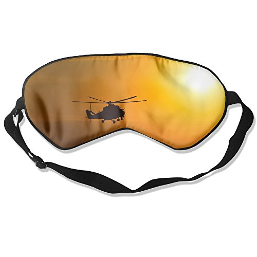 Sleep Mask Helicopter Silhouette Sunset Eye Cover Blackout Eye Masks,Soothing Puffy Eyes,Dark Circles,Stress,Breathable Blindfold For Women Men by MB32