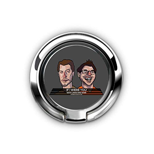 Cell Phone Ring Holder, Universal Smartphone Ring Grip Stand Car Mounts for iPhone X 8 7/7 Plus,for Samsung Galaxy S8/S7,for Tablet, Fit Magnetic Car Mount -(Jake and Amir If I were You Cartoon£ (Best Of Jake And Amir)
