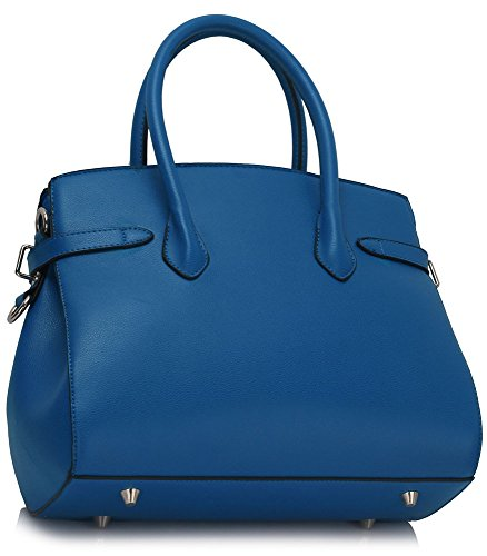 Sac Leahward® À Cws00140 Sacs Femme orange Moyenne Taille E Cws00140e Cadenas Bleu Mode Main Qualité Styliste 0PqvBwr0
