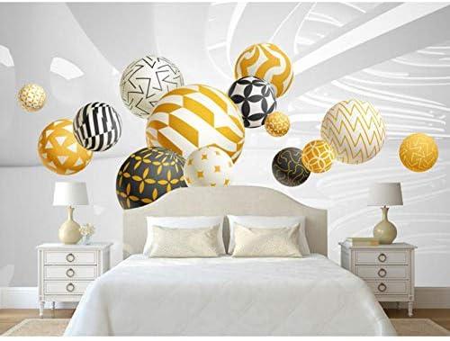 Mingld カスタムモダンミニマリスト3Dステレオボール幾何空間壁画背景壁紙抽象壁画絵画寝室-150X120Cm