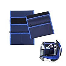 Wheelchair Bags Pouch Armrest Side Organizer Mesh Storage Cover - Fits Most Scooters, Rollators, Power & Manual Electric Wheelchairs (Blue)