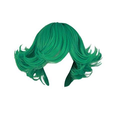 DAZCOS Tatsumaki Short Green Cosplay Costume Wig
