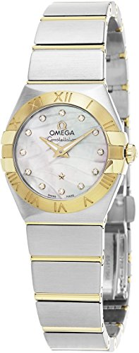Omega Women's 'Constellation' Swiss Quartz Stainless Steel Dress Watch, Color:Two Tone (Model: (Omega Quartz Bracelet)
