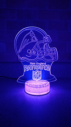 New England Patriots 3D LED Night Light 7 (New England Patriots Lamp)