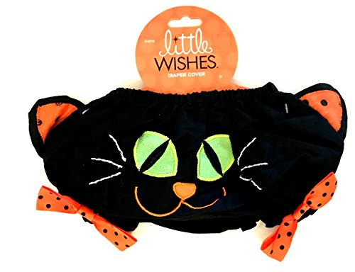 Tom Cat Halloween Costume (Halloween Bloomers - Baby Girls - Halloween Diaper Cover - Girls Halloween Bloomers Black Cat - One Size Fits All (Black Cat - One Size Fits All))