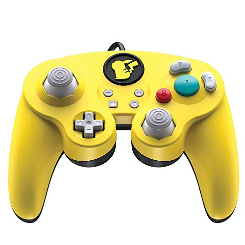 Nintendo Switch Pokemon Pikachu GameCube Style Wired Fight Pad Pro Controller by PDP, 500-100-NA-D3
