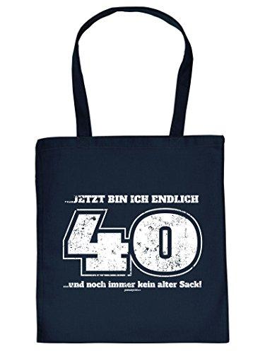 Coole Tasche Einkaufstasche zum 40. Geburtstag jetzt bin ich endlich 40 und noch immer kein alter Sack! Geschenk zum 40. Geburtstag 40 Jahre
