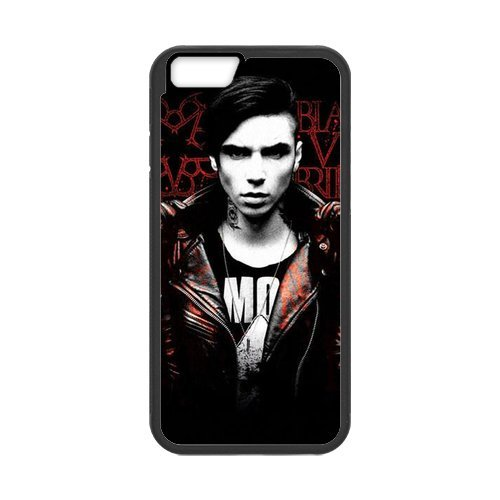 Fayruz- Personalized Protective Hard Textured Rubber Coated Cell Phone Case Cover Compatible with iPhone 6 & iPhone 6S - Black Veil Brides F-i5G630