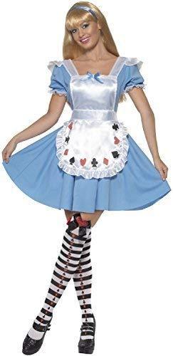 Ladies Sweet Alice Wonderland Girl World Book Week TV Film Halloween Carnival Fancy Dress Costume Outfit (UK -