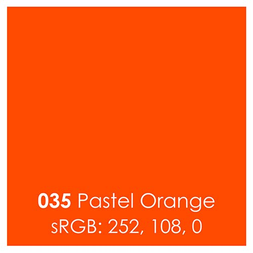 Oracal 651 Glossy Permanent Vinyl 12 Inch x 6 Feet - Pastel Orange