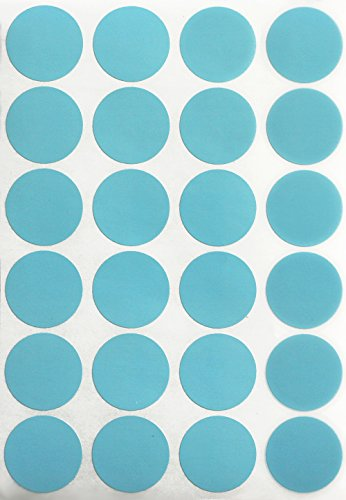 Round Seal Light - Light blue dot stickers 1 inch round label dots 25mm - 120 pack by Royal Green