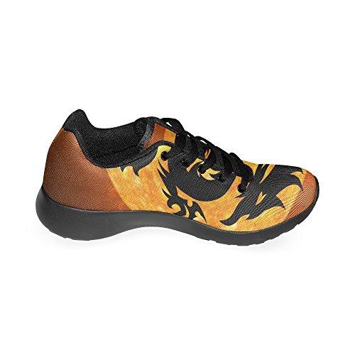 InterestPrint skull rose Sports Running Shoes for Women Dragon 2 a1yKoDxAca