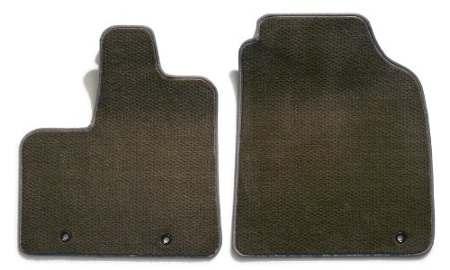 Premier Custom Fit 2-piece Front Carpet Floor Mats for Toyota Sienna (Premium Nylon, Driftwood) (Wood Sienna Floors)