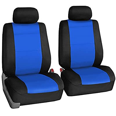 FH Group FB083BLUE102 Blue-Half Neoprene Bucket Seat Cover Airbag Compatible: Automotive