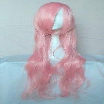 GSP-peluca cosplay pelucas del partido popular de rosa de la mujer de pelo sintético