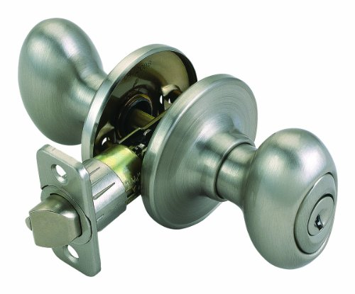 Design House 740449 Egg 2-Way Adjustable Entry Door Knob, Satin (Design House Egg Knob Satin)