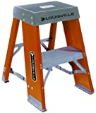 Louisville Ladder FY8002 300-Pound Duty Rating Fiberglass Step Stand Ladder, 2-Foot