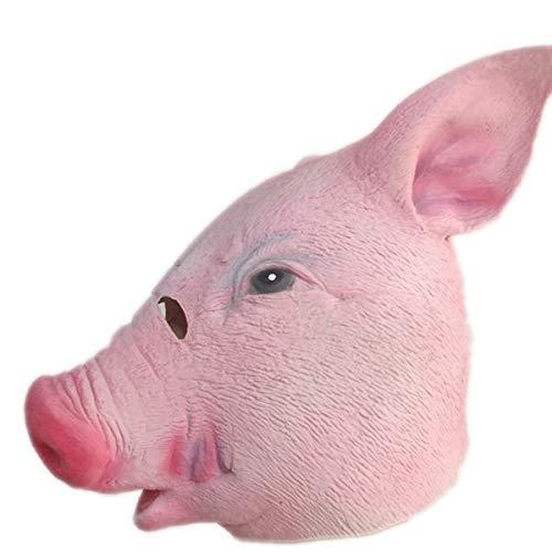 DeemoShop Cute Animal Pig Mask Full Head Latex